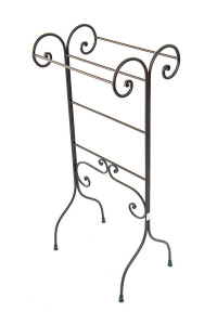 FREE STANDING TOWEL RACK STAND- RUST FINISH