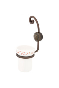 NUVOLA- WALL MOUNTED TOOTHBRUSH HOLDER- RUST FINISH