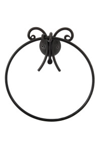 RELAX- WALL MOUNTED TOWEL RING- BLACK FINISH